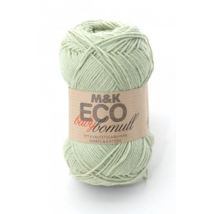 M&K Eco Baby Bomull garn - 50g - grön (906)