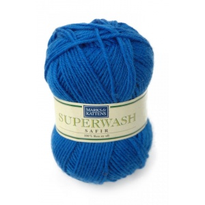 Superwash Safir garn - 50g - Klarblå (518)