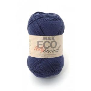 M&K Eco Baby Bomull garn - 50g - Marin (917)