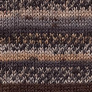 DROPS Fabel Print garn - 50g - Grå/brun (547)