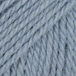 DROPS Flora Uni Colour garn - 50g - Blå (13)