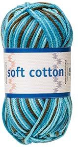 Soft Cotton garn 50g Turkos/petrol/brun