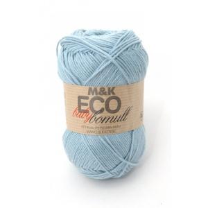 M&K Eco Baby Bomull garn - 50g - ljus turkosblå (911)