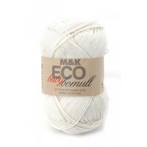 M&K Eco Baby Bomull garn - 50g - oblekt (901)