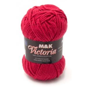 M&K Victoria garn - 50g - Röd (756)