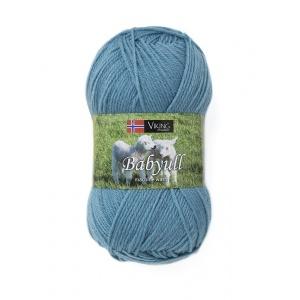 Viking garn Baby Ull 50g Mellanblå (379)