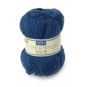 Superwash Safir garn - 50g - Jeansblå (514)
