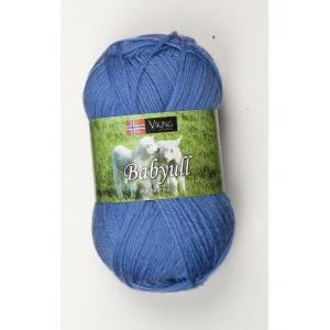 Viking garn Baby Ull 50g Mellanblå (323)