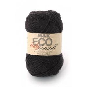 M&K Eco Baby Bomull garn - 50g - svart (900)
