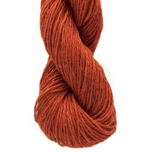 M&K Linen garn - 50g - Mörk orange (rost) (965)