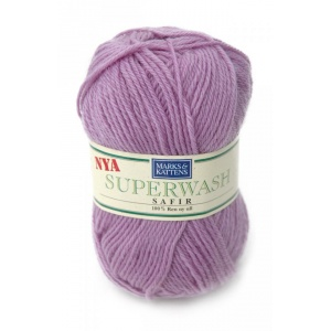 Superwash Safir garn - 50g - Ljuslila (1506)