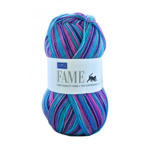 Fame garn - 100g - Ljusblå/rosa (628)