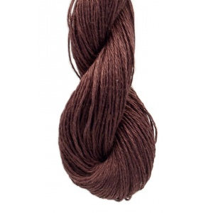 M&K Linen garn - 50g - Mörkbrun (966)