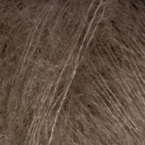 DROPS Kid-silk Uni Colour garn - 25g - Mörk brun (15)