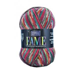 Fame garn - 100g - Röd-mönstrad (615)