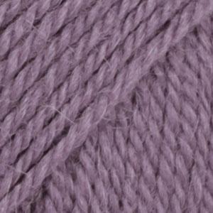 DROPS Flora Uni Colour garn - 50g - Lila (09)
