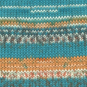 DROPS Fabel Print garn - 50g - Blue sea (162)