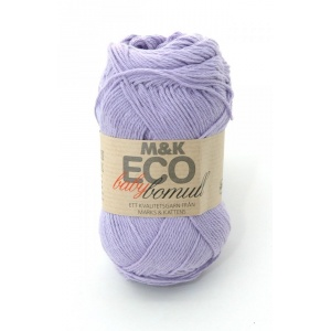 M&K Eco Baby Bomull garn - 50g - Ljuslila (914)