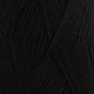 DROPS Fabel Uni Colour garn - 50g - Svart (400)
