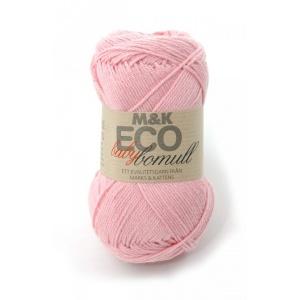 M&K Eco Baby Bomull garn - 50g - Ljusrosa (909)