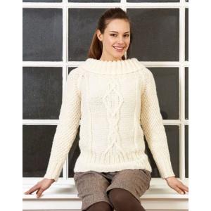 Stickmönster - Flätstickad tröja
