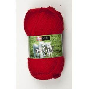 Viking garn Baby Ull 50g Röd (350)