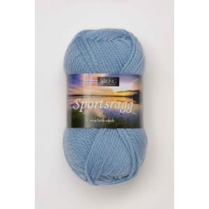 Viking garn Sportsragg 50g Ljusblå (521) SR