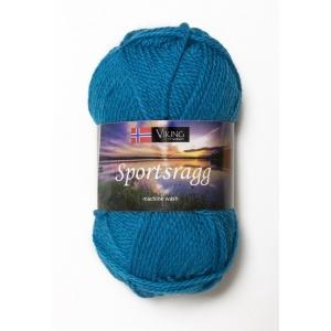 Viking garn Sportsragg 50g Turkos (529) SR