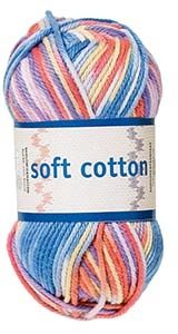 Soft Cotton garn 50g Multi print