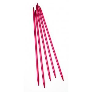 "Strumpstickor ""Röd"" - 20cm - Aluminium"