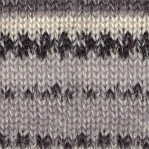 DROPS Fabel Print garn - 50g - Svart/natur (905)