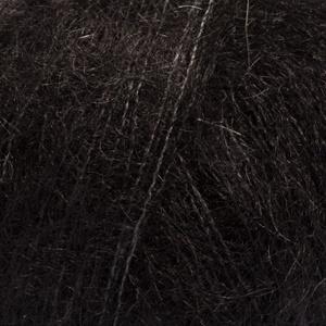 DROPS Kid-silk Uni Colour garn - 25g - Svart (02)