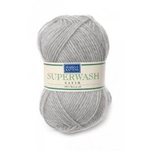 Superwash Safir garn - 50g - Safir Ljusgrå (502)