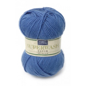 Superwash Safir garn - 50g - Blå (1991)