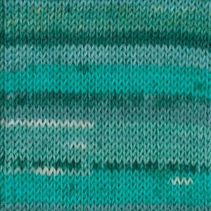 DROPS Fabel Print garn - 50g - Blue lagoon (340)