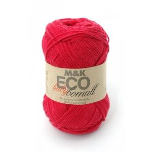 M&K Eco Baby Bomull garn - 50g - röd (905)