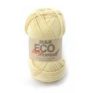 M&K Eco Baby Bomull garn - 50g - gul (907)