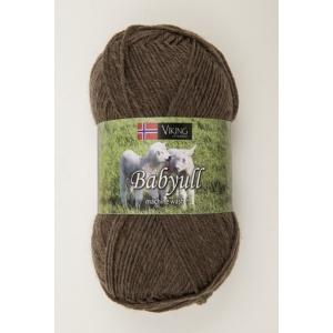 Viking garn Baby Ull 50g Brun (308)