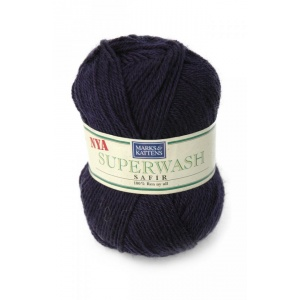 Superwash Safir garn - 50g - Marin (513)