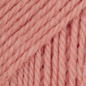 DROPS Flora Uni Colour garn - 50g - Mörkrosa (20)