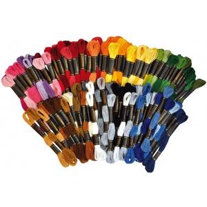 Broderigarn / moulinegarn - 100 st 42 färg