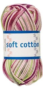 Soft Cotton garn 50g Lila/rosa/beige