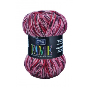 Fame garn - 100g - Rosa/lila-mönstrad (613)