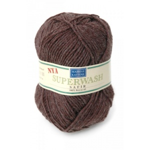 Superwash Safir garn - 50g - Brun (1421)
