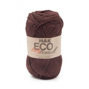 M&K Eco Baby Bomull garn - 50g - Brun (918)