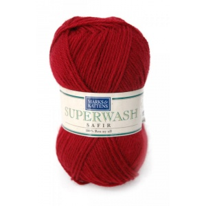 Superwash Safir garn - 50g - Vinröd (510)