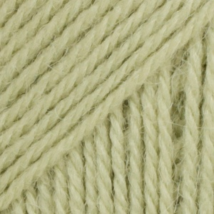 DROPS Flora Uni Colour garn – 50g – Ljusgrön (16)