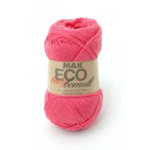 M&K Eco Baby Bomull garn - 50g - Rosa (913)