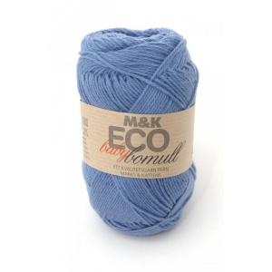 M&K Eco Baby Bomull garn - 50g - blå (904)