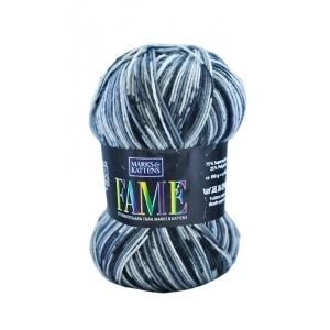 Fame garn - 100g - Svart/grå-mönstrad (602)